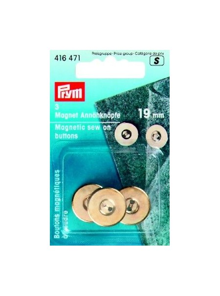 Bouton magnétique Prym 19mm or 416 471