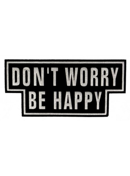 """Patch thermocollant """"Don't worry be happy"""" paillette"""