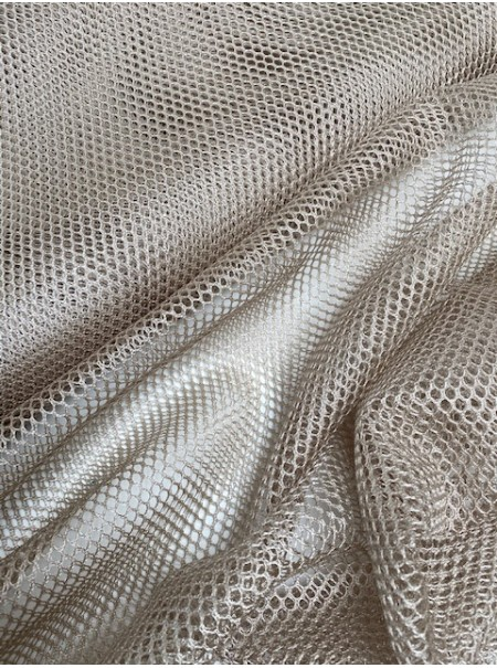 Tissu filet mesh beige nature