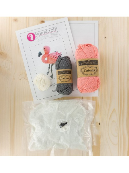 Kit crochet COCO le flamand rose
